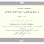 Family Mediation Certification for Emma Katz