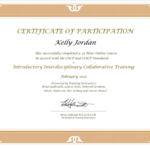 Certificate of Interdisciplinary Collaborative Mediation - Collaborative Lawyer