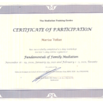 Family Mediation Certification for Marisa Vekios