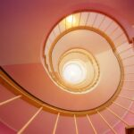 looking up through a spiral staircase - Spousal and Child Support Payments After Death
